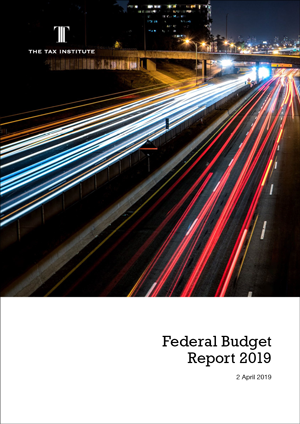 Federal Budget Report 2019