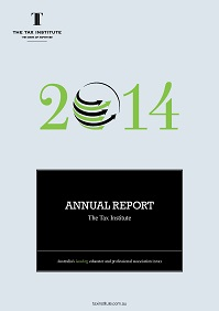 The Taxation Institute Annual Report book cover