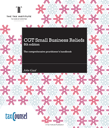 An image of the CGT small business reliefs book cover