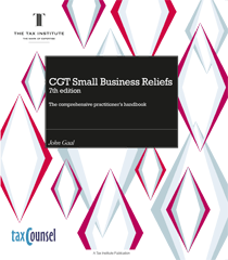 Cover image: CGT Small Business Reliefs