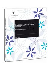 Division 7A Handbook 2012-13 image