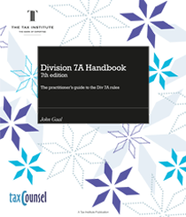 An image of the Division 7A Handbook cover
