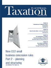 Taxation in Australia | 1 Sep 08