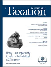 Taxation in Australia | 1 Aug 09