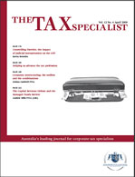 The Tax Specialist | 1 Apr 09