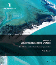 Cover image: Bender's Australian Stamp Duties