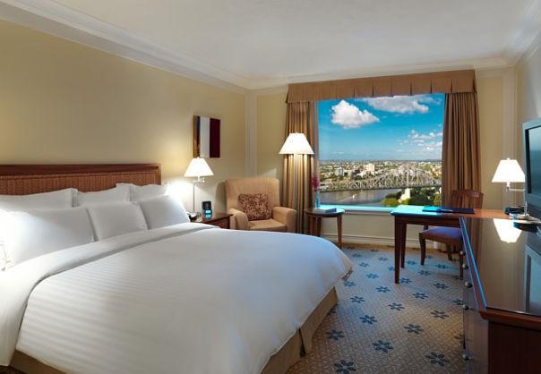 A photograph of Brisbane Marriott Hotel room