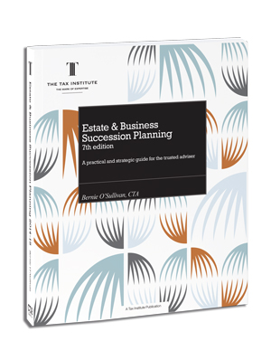 An image of the Estate & Business Succession Planning book cover
