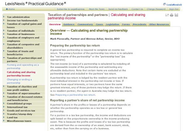 Practical Guidance Tool Screenshot