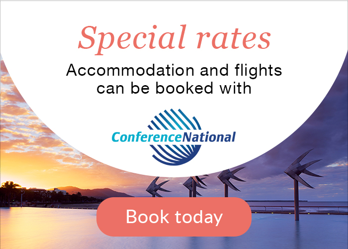 Special Rates: Accommodation and flights can be booked with ConferenceNational - Book today