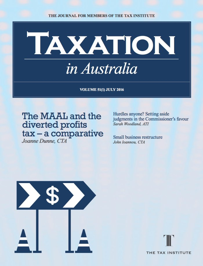 The Taxation in Australia Journal cover