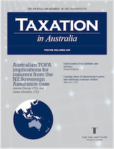 Cover image: Taxation In Australia Journal