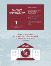 The Tax Specialist Journal cover page